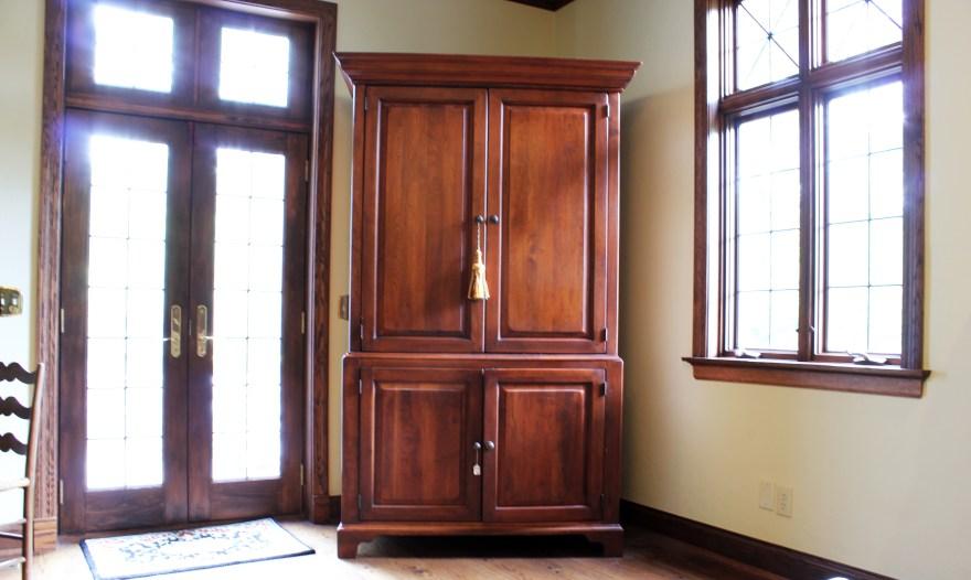 Cherry Wood Armoire Dresser