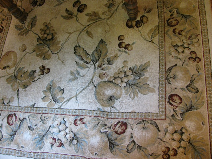 Tan Sage And Cranberry Tuscan Style Area Rug Ebth