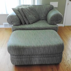 Oversized Upholstered Chair Massage With Foot Ottoman Ebth