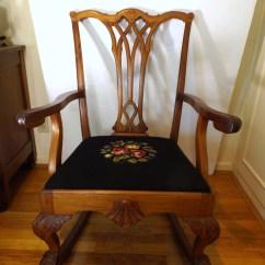 Chippendale Rocking Chair Chiavari Cushions Style Rocker Ebth