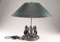 Frederick Cooper Frog Themed Brass Table Lamp : EBTH