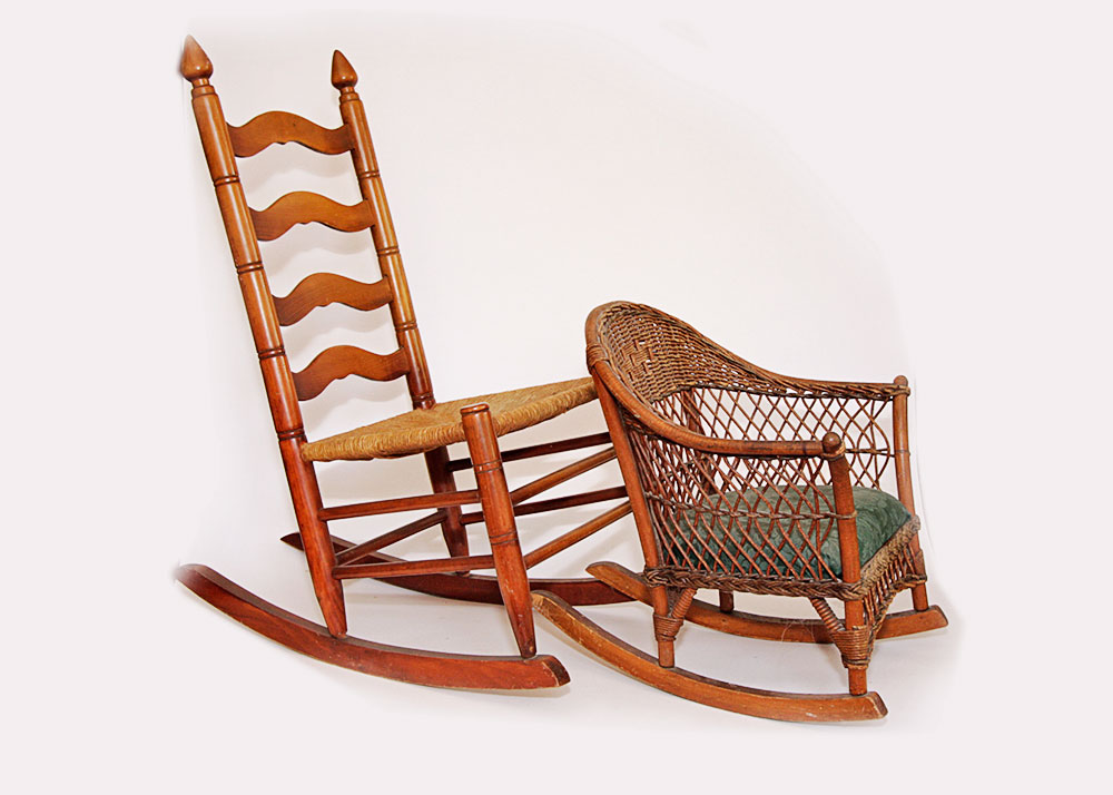 childs rattan chair tolix yellow amish style ladder back rocking and child s wicker ebth