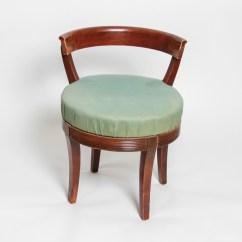 Vintage Vanity Chair Swivel Upholstered Ebth