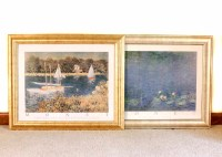 Two Framed Monet Prints : EBTH