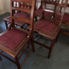Spool Chair For Sale High Toddler Six Antique Back Side Chairs Ebth