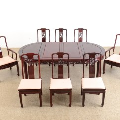Chinese Rosewood Dining Table And Chairs Papasan Chair Cushion Pier One Room Ebth