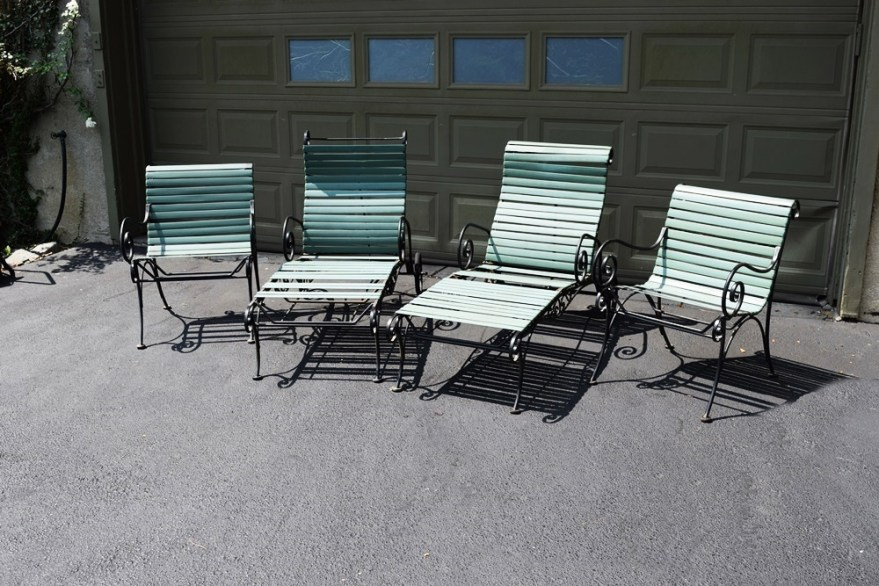 Vintage 1950-60' Woodard Ionian Wrought Iron Chairs And