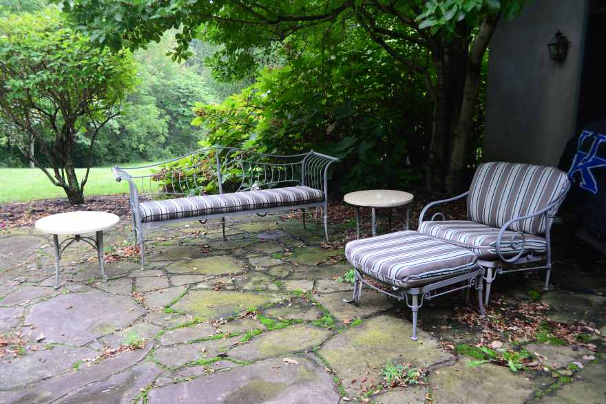 Five-piece French Country Patio Furniture Set Ebth