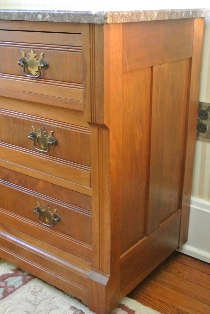 Marble Top 5 Drawer Eastlake Chest Of Drawers EBTH