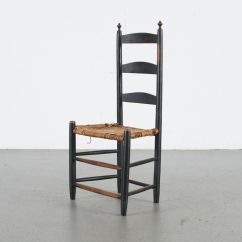 Ladder Back Cane Seat Dining Chairs Heavy Duty Kitchen Antique Chair Ebth
