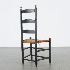 Ladder Back Cane Seat Dining Chairs Shaggy Bean Bag Chair Antique Ebth