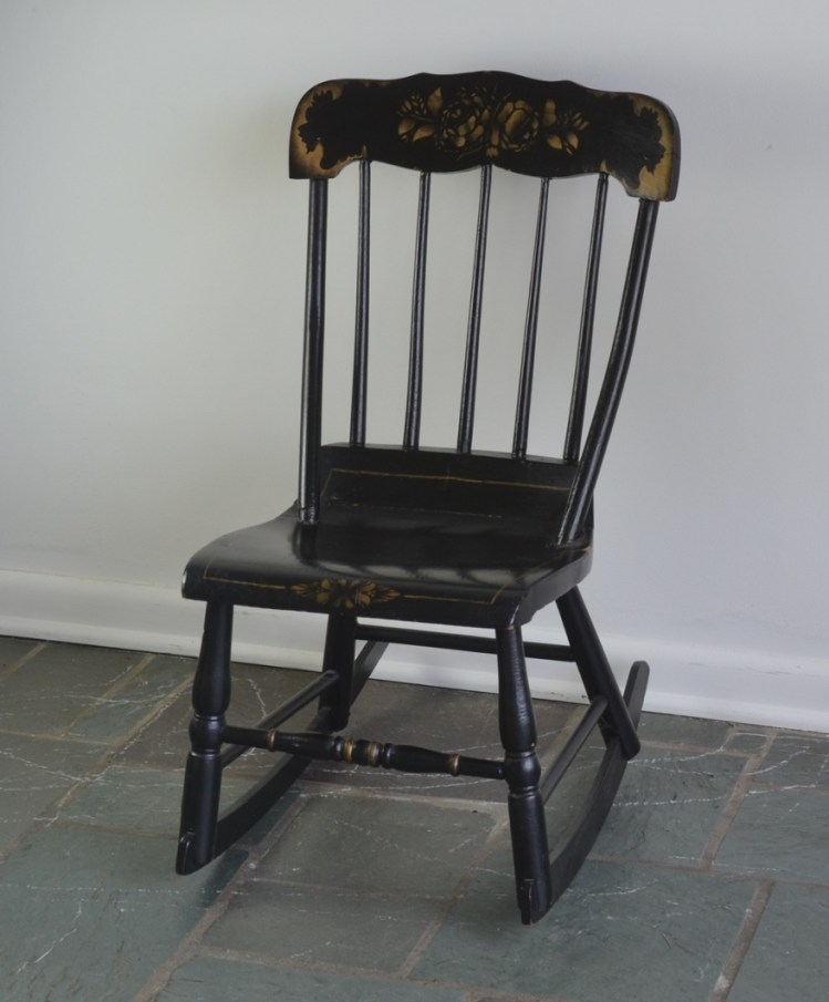 Vintage Hitchcock Style Child' Rocking Chair Ebth