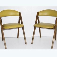 Coronet Folding Chairs L Bean Beach Four Mid Century Modern Wonderfold Ebth