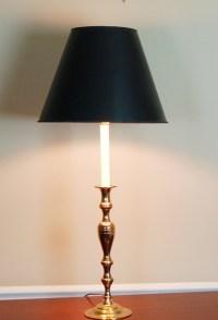 Baldwin Brass Candlestick Lamp : EBTH
