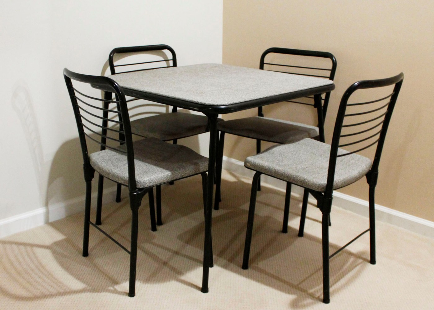 Cosco Card Table And Chairs Vintage Cosco Fashion Fold Mid Century Card Table And