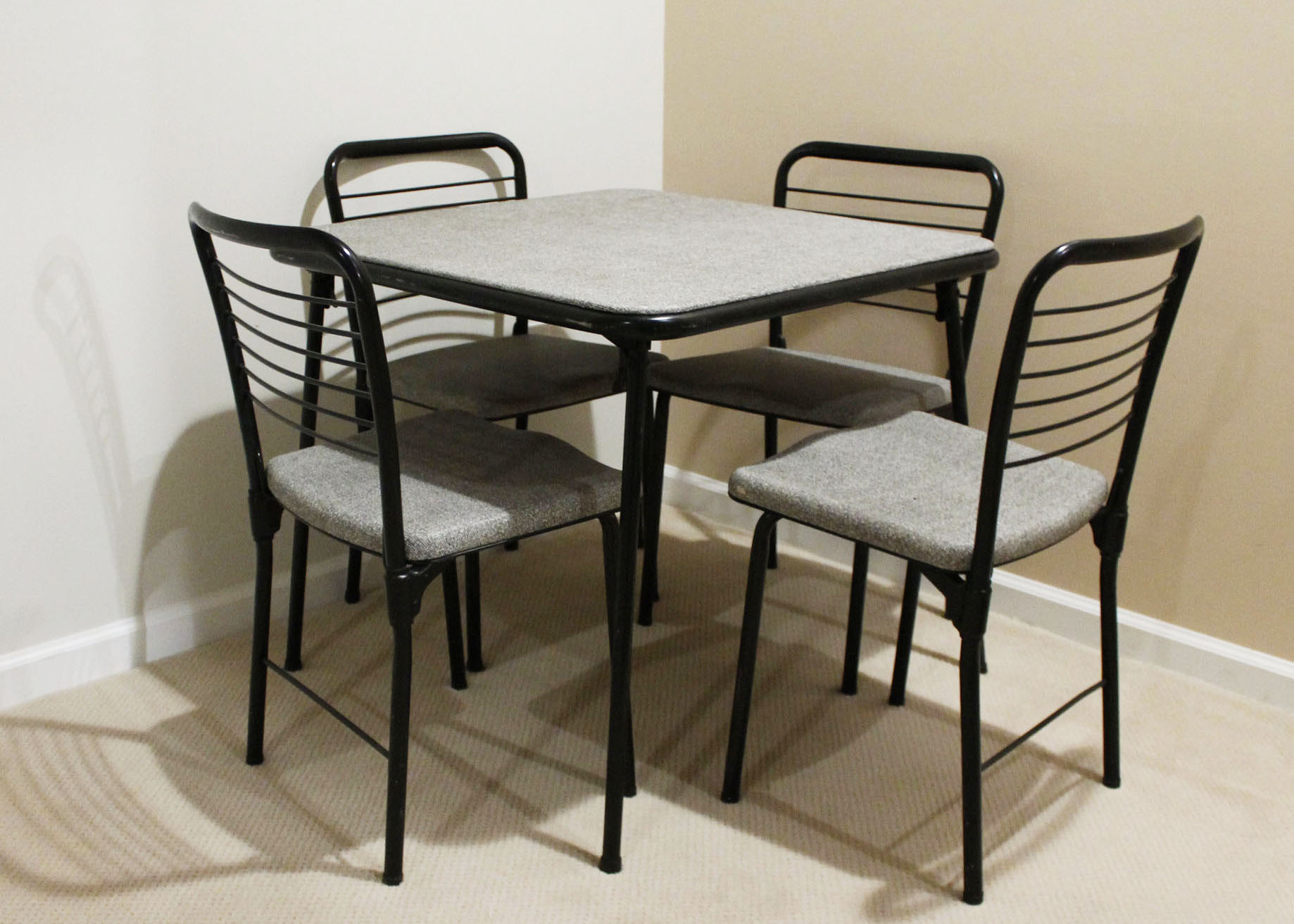cosco card table and chairs cheap high vintage fashion fold mid century