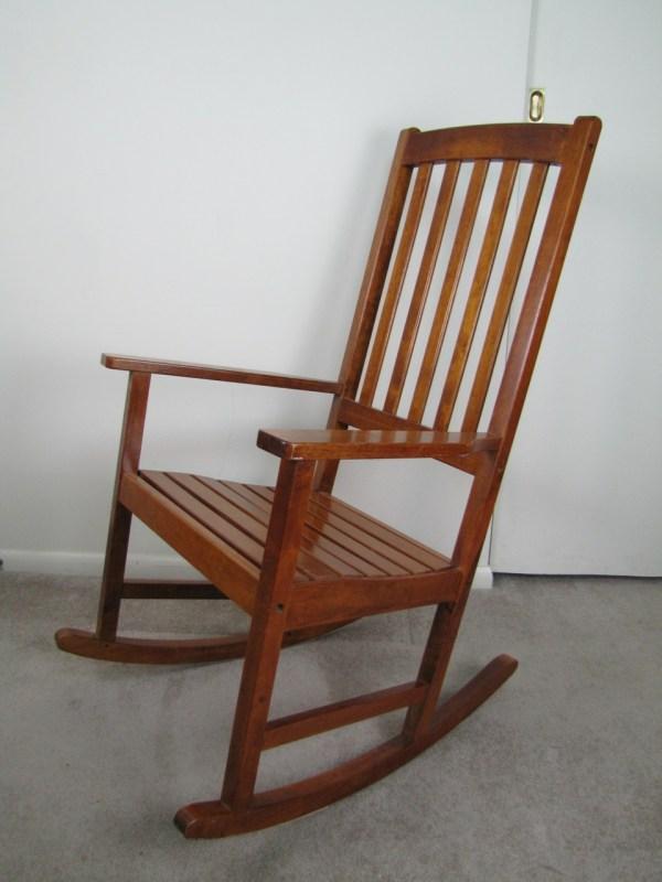 Oversized Wood Rocking Chair  EBTH