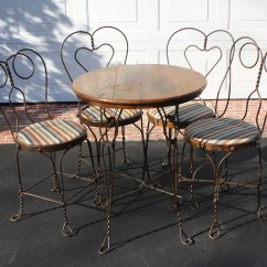Ice Cream Parlor Table And Chairs Wheelchair Accessories Near Me Antique Four Ebth