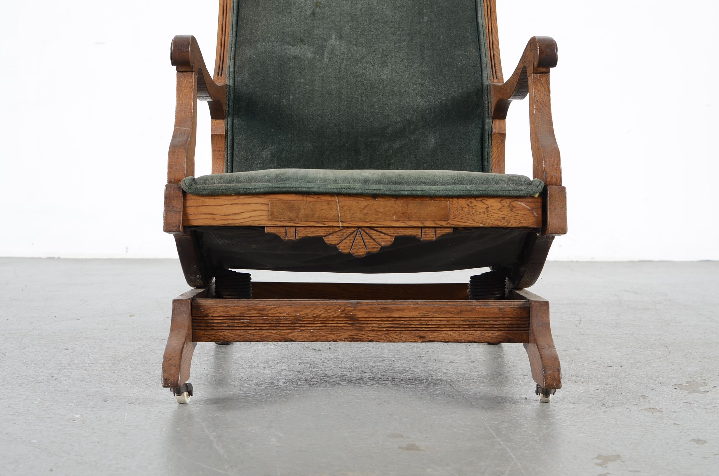 antique platform rocking chair with springs pride healthcare inc lift eastlake oak rocker ebth