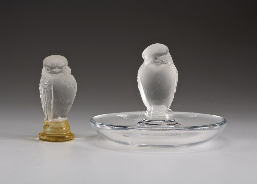 Lalique Crystal Bird Ring Holder And Figurine Ebth