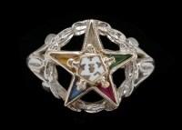 10K White Gold Eastern Star Ring : EBTH