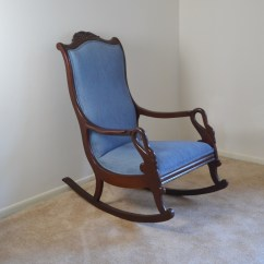 1920s Rocking Chair Desk In Grey Circa 1940s Colonial Revival Swan Neck Ebth