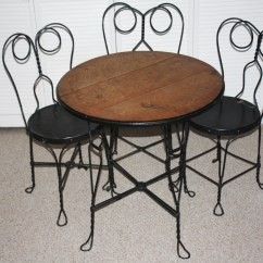 Ice Cream Table And Chairs Bentwood Cane Seat Antique Parlor Ebth