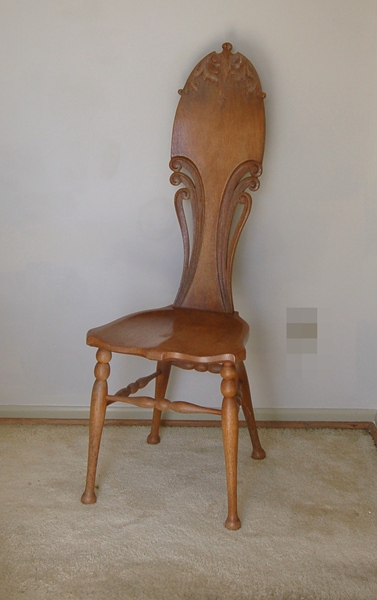 Antique Carved Oak Music Chair in Art Nouveau Style  EBTH