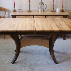 Amish Built Sofa Tables How To Clean Ink Stains From Leather Solid Wormy Maple Dining Table Ebth