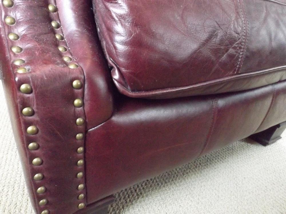 bernhardt brown leather club chair desk 22 inch seat height handsome : ebth