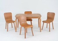 Mid Century Modern Maple Dining Table and Chairs : EBTH