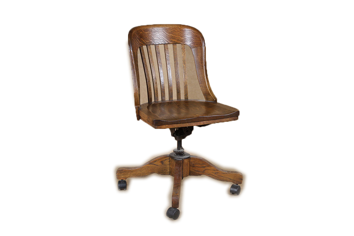 sikes chair company ergonomic how to sit antique oak swivel bankers ebth