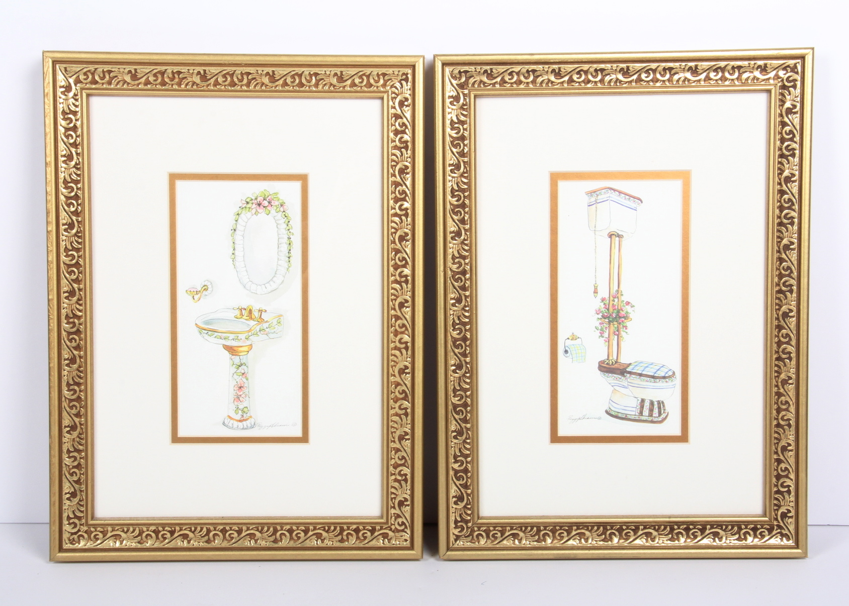 peggy abrams bathroom art prints : ebth