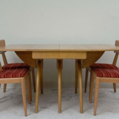 Heywood Wakefield Dining Table And Chairs Kartell Louis Ghost Chair Butterfly Drop Leaf