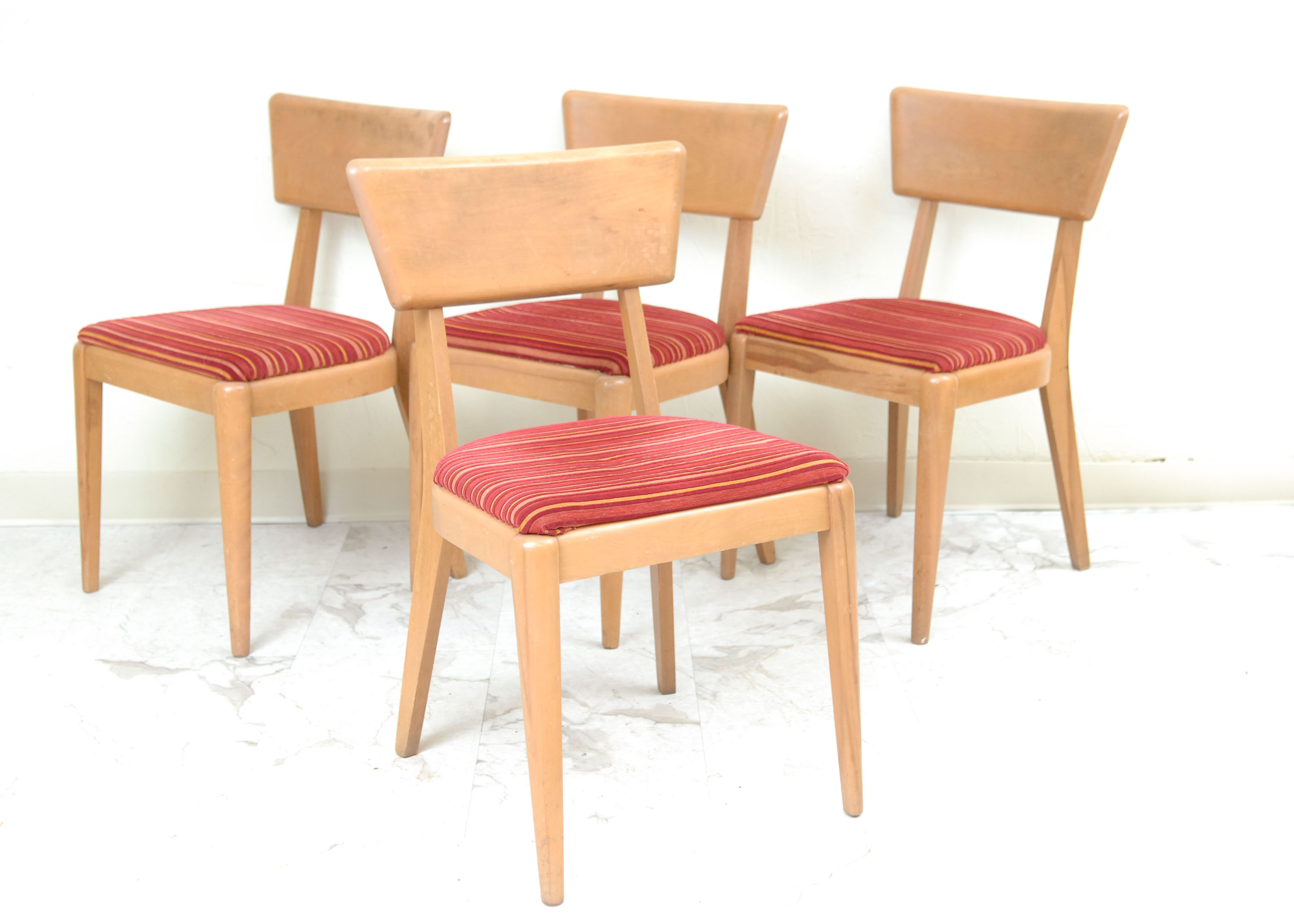 heywood wakefield dining table and chairs lawn cheap butterfly drop leaf