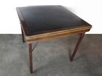 Vintage Wood Folding Card Table : EBTH