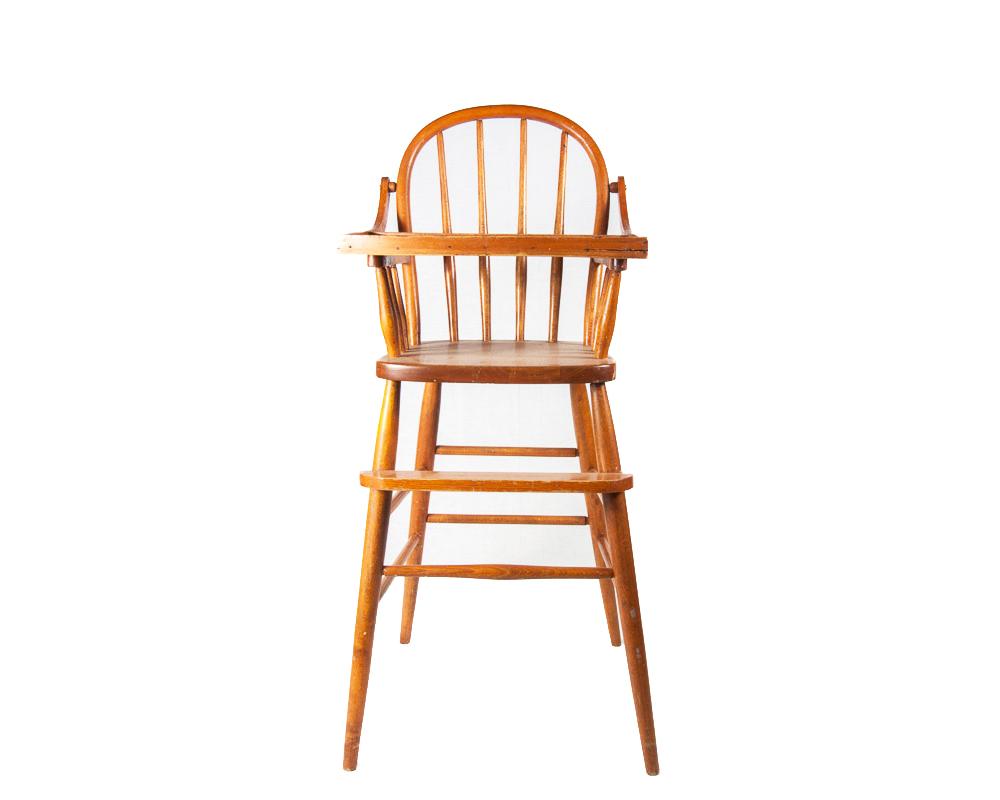 vintage wooden high chair 5 position floor child s ebth