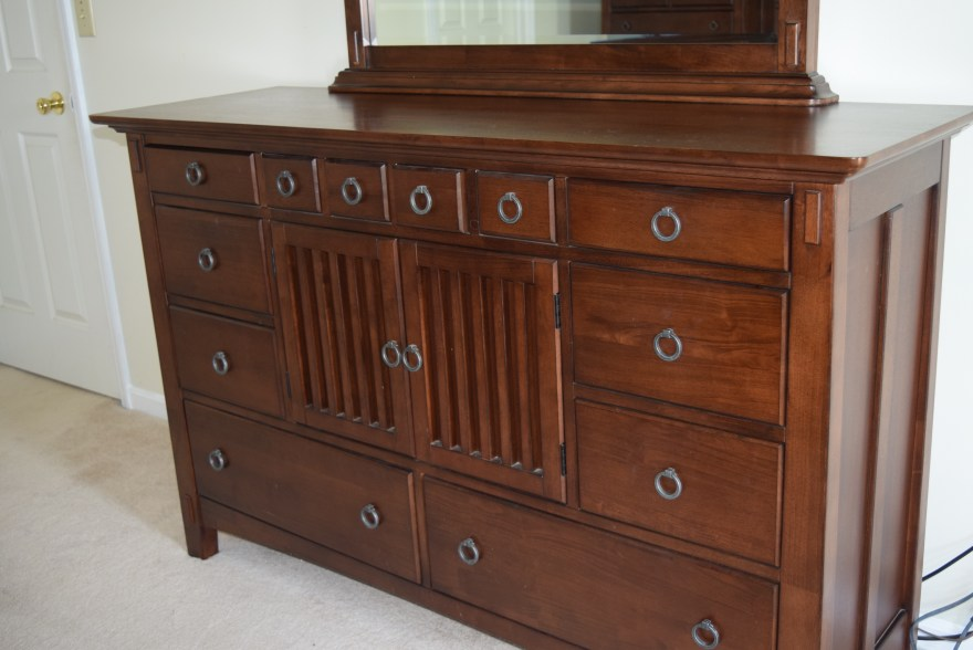 american signature arts and crafts bedroom dresser and mirror
