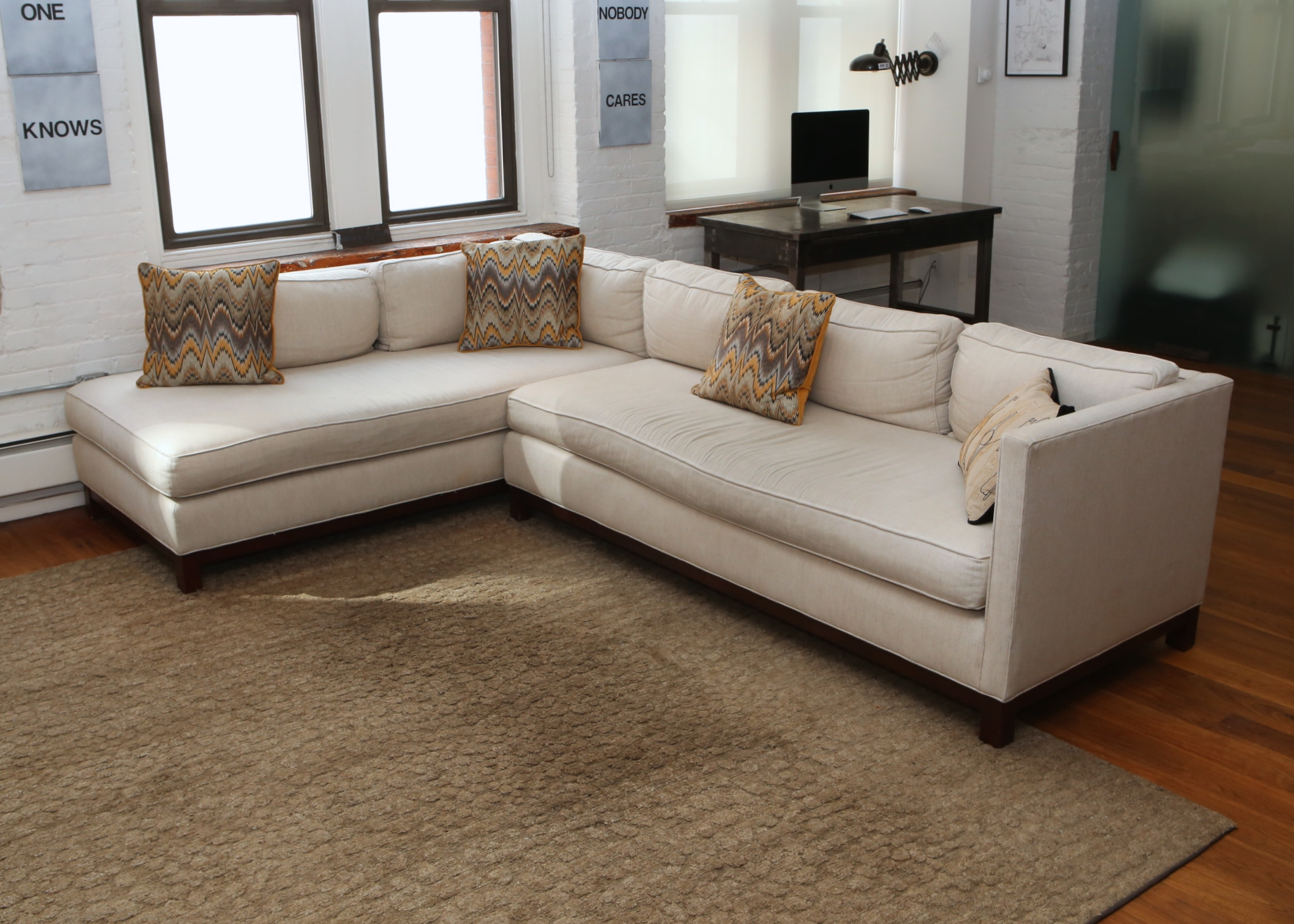 gold sectional sofa mid century modern under 1000 mitchell and bob williams clifton collection ebth