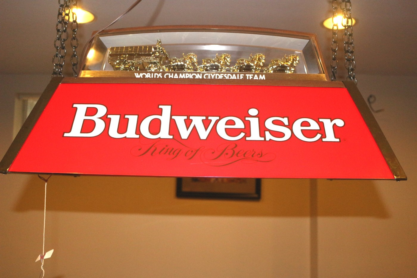 Budweiser Clydesdale Pool Table Light Ebth