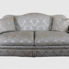 Camelback Sofa Cover For Bedrooms Damask Mu Royal Arabian Stripe Light Blue ...