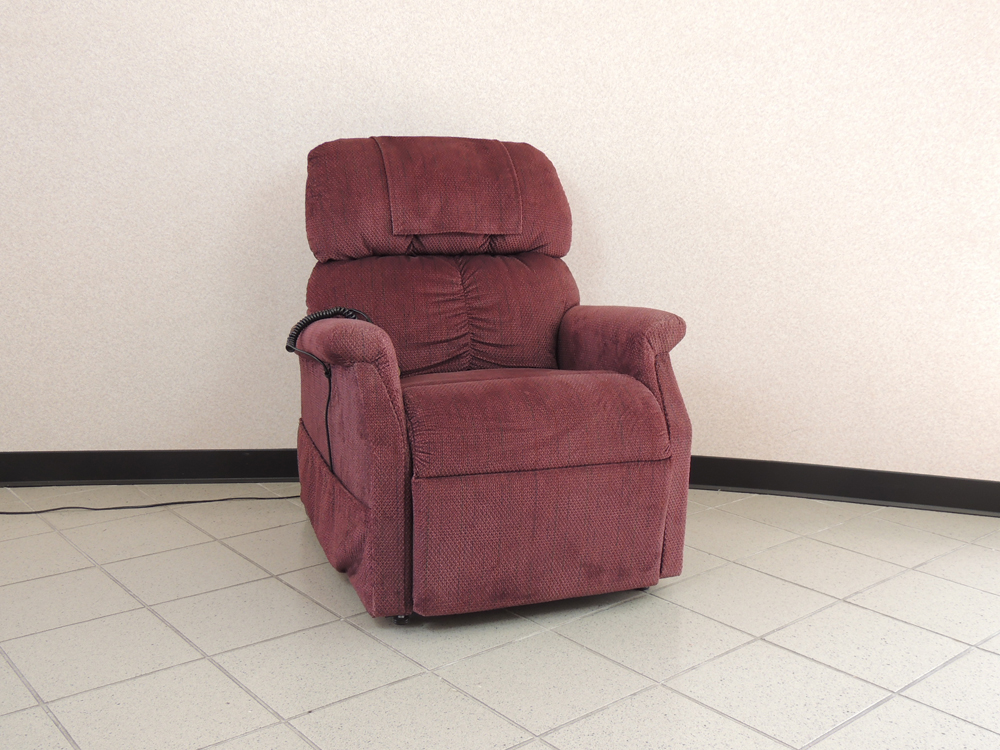 golden power chair barber parts lift recliner in burgundy ebth