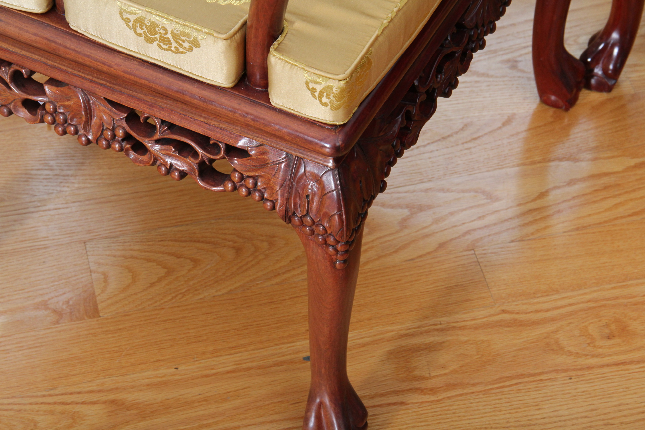chinese rosewood dining table and chairs childrens with arms carved ebth