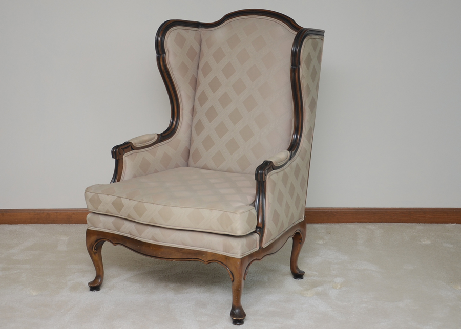 ethan allen wingback chairs posture chair ebay queen anne style wing back ebth