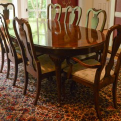 Drexel Heritage Chairs Chair Covers For Leather Dining Room Mahogany Table And Ebth