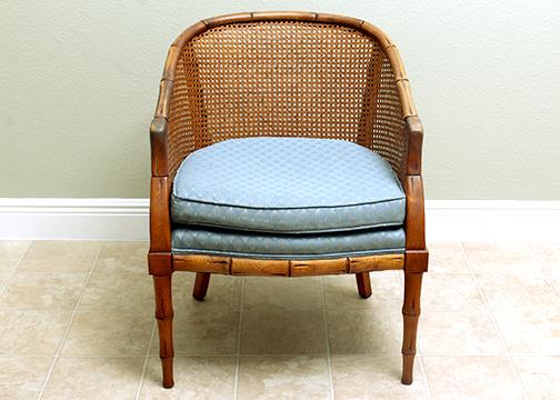 mid century modern cane barrel chairs fitness ball chair base ebth