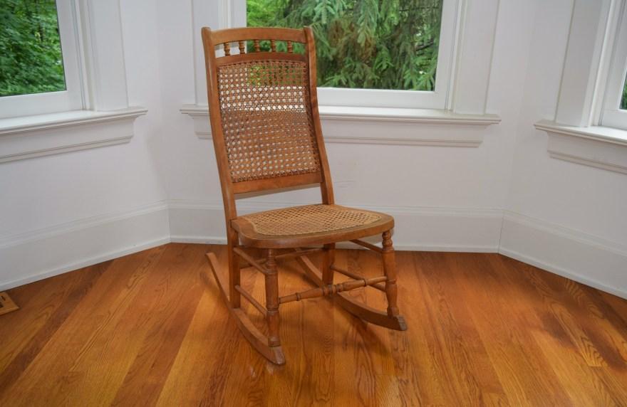 Armless Cane Back Rocking Chair  EBTH