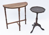 Vintage Half Moon Side Table and Bombay Round Table : EBTH