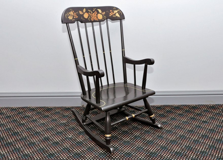 Black Hitchcock Rocking Chair Ebth
