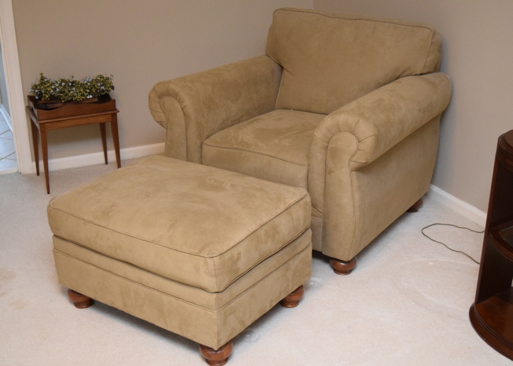 microfiber club chair with ottoman positions in a fraternity pair of oversized chairs matching ebth